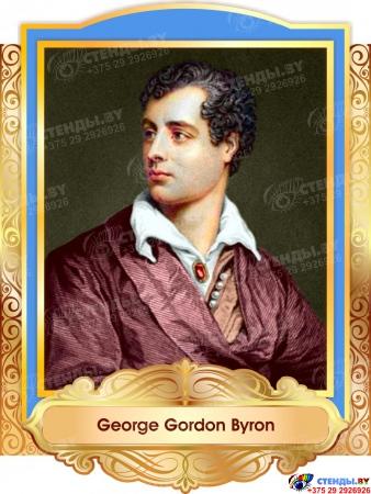 Комплект портретов портретов Знаменитые Британцы  в золотисто-голубых тонах 260*350 мм Изображение #5