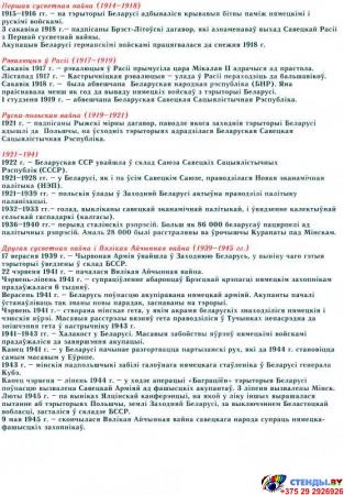 Стенд Гiсторыя Беларусi 900*960 мм Изображение #1
