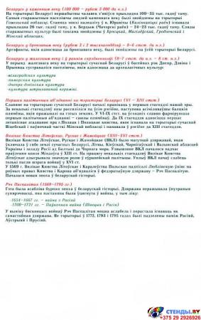 Стенд Гiсторыя Беларусi 900*960 мм Изображение #2