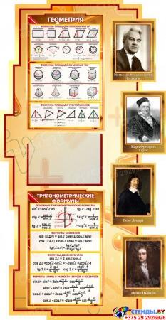 Стенд в кабинет Математики Математика вокруг нас с формулами и тригономертической таблицей 1800*995мм Изображение #3