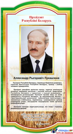 Стенд-композиция Символика Республики Беларусь на белорусском языке 2610*1000 мм Изображение #3